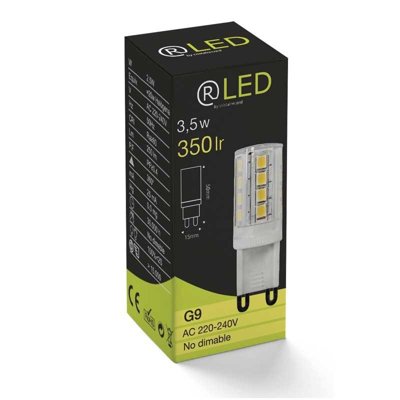 led bulb g9 3 5w 350lm 4000k cristalrecord led lighting. Black Bedroom Furniture Sets. Home Design Ideas