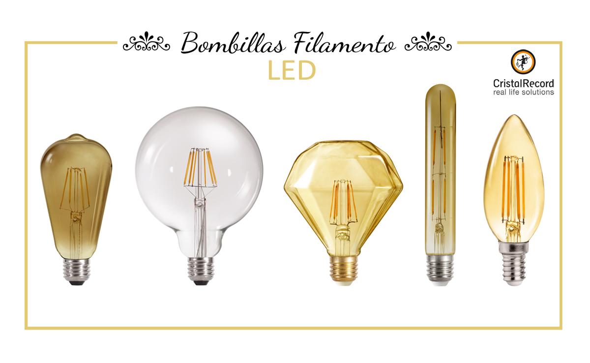 Bombillas vintage de filamento led for Tipos de bombillas led para casa