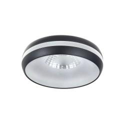 Foco LED empotrable 7W Eve negro IP44