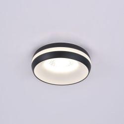7W Eve Black Recessed LED Spotlight IP44