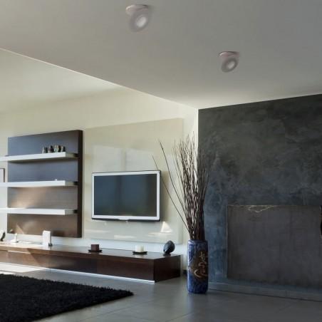 Ambiente de salón con empotrable LED Kali cromo