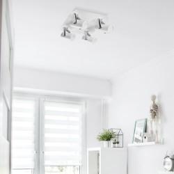 Dormitorio juvenil con regleta-foco oroel (4xGU10)
