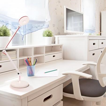Dormitorio juvenil con flexo LED Angle blanco