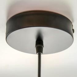 Detalle base lámpara tuba negro mate
