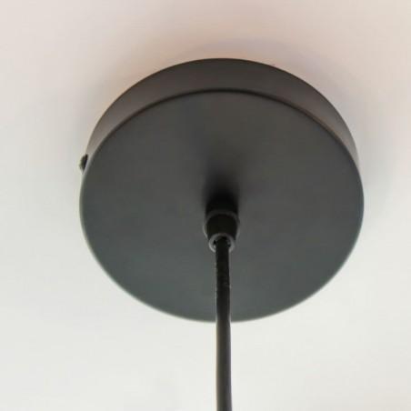 Detalle de la base de la lámpara de techo Bulb Vintage negro mate