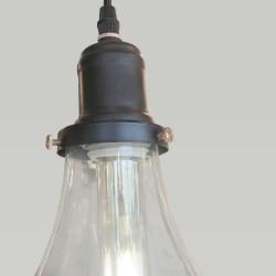 Detalle de portalámparas vintage Bulb color negro mate