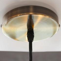 Detalle de la base de la lámpara de techo Paris blanco E27