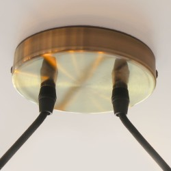 Detalle base pendel Paris dos luces