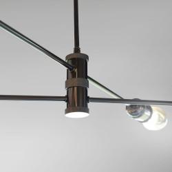 Detalle de portalámparas horizon grafito 4 luces