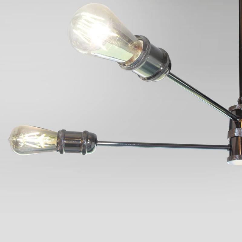Detalle colgante horizon grafito 4 luces E27