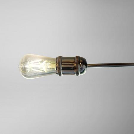 Detalle lámpara de techo horizon grafito 4 luces e27