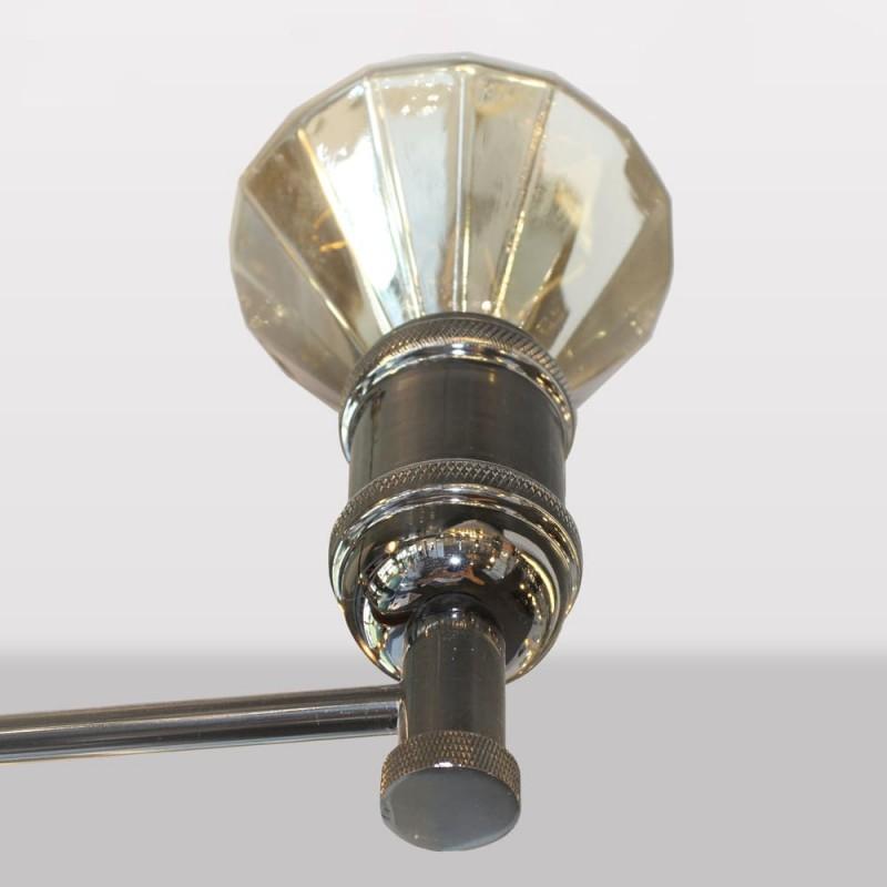 Detalle lámpara colgante miyako grafito 6 luces e27