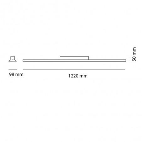 Cota Plafón LED Wanda 72W 3000K Blanco Mate