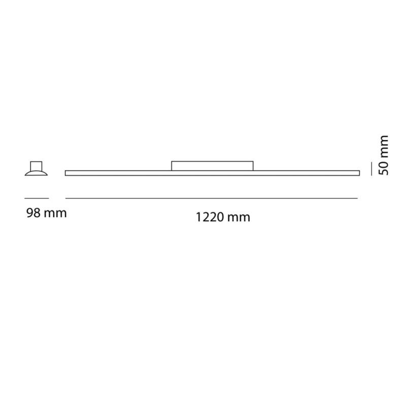 Cota Plafón LED Wanda 72W 3000K Gris