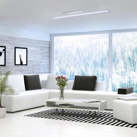 Salón moderno con Plafón LED Wanda 72W 6000K Blanco Mate