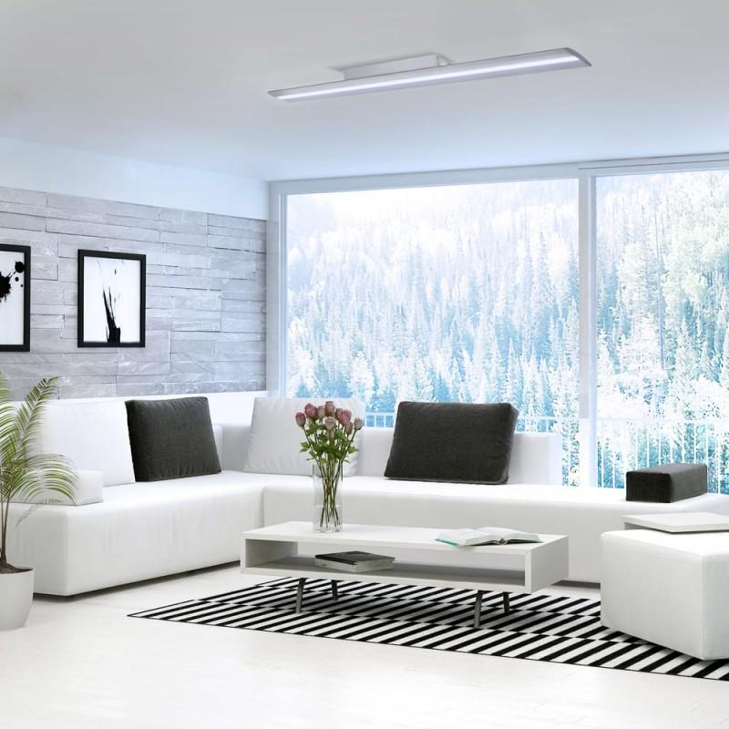 Salón moderno con Plafón LED Wanda 72W 6000K Gris