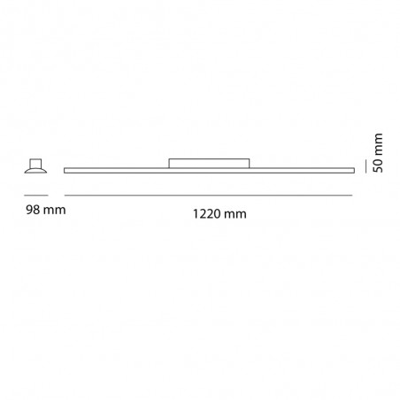 Cota Plafón LED Wanda 72W 6000K Gris
