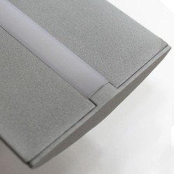 Detalle difusor Plafón LED Wanda 72W 6000K Gris