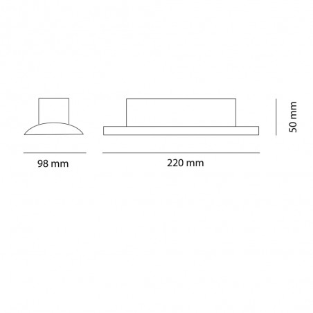 Cota PLAFON LED 20W GRIS WANDA