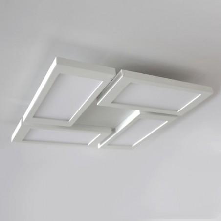 PLAFON LED 60W, 3000K DIMMABLE NEW OR BLANCO instalado en techo blanco