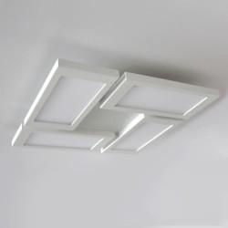 Plafón LED Or Blanco 4 Luces 72W instalado en techo blanco