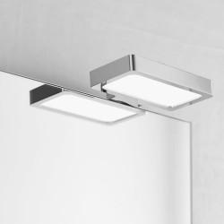 Aplique de baño LED 6W 5700K Toledo instalado en baño con cristal