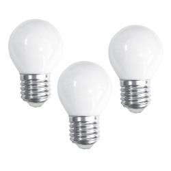 Packx3 Milky LED Bulbs G45 E27 6W 6000K