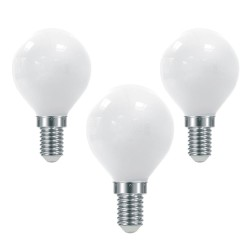 Pack x3 Bombilla LED G45 milky E14 6W 6000K