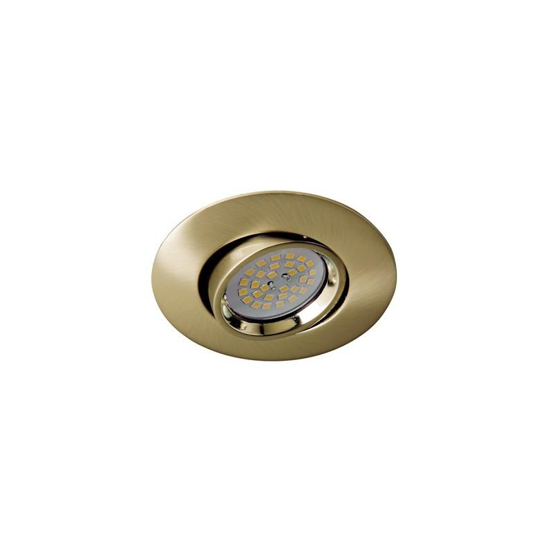 Zar Recessed Light 35mm Antique Brass Cristalrecord