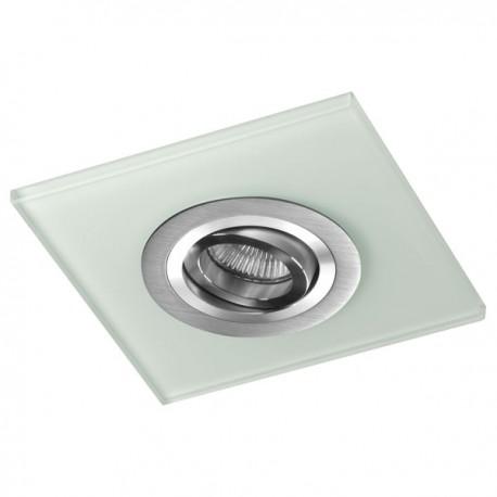 Class Aluminium Recessed Light – White Glass