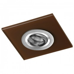 Class Aluminium Recessed Light – Brown Glass