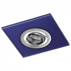 Class Aluminium Recessed Light – Blue Glass