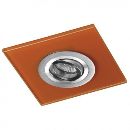 Class Aluminium Recessed Light – Orange Glass