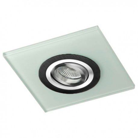 Class Black Recessed Light – White Glass