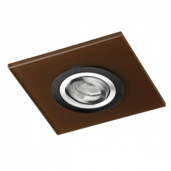 Class Black Recessed Light – Brown Glass