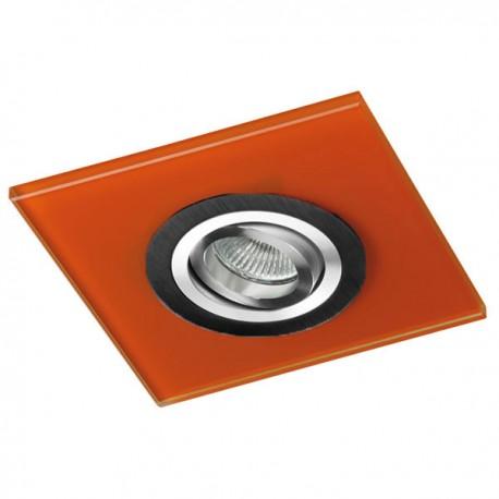 Class Black Recessed Light – Orange Glass