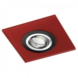 Class Black Recessed Light – Red Glass
