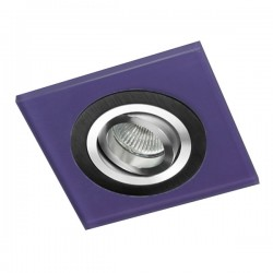 Class Black Recessed Light – Purple Glass
