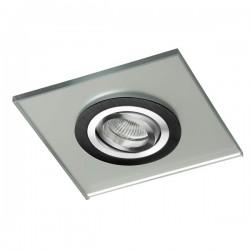Class Black Recessed Light – Silver Glass