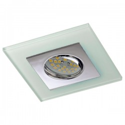 Zeta Chrome Recessed Light – White Glass