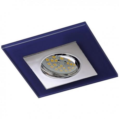 Zeta Chrome Recessed Light – Blue Glass