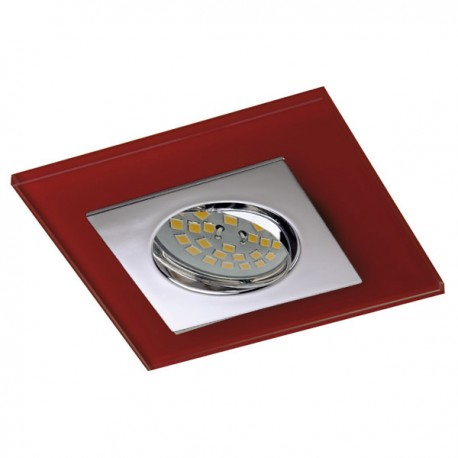Zeta Chrome Recessed Light – Red Glass