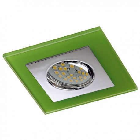 Zeta Chrome Recessed Light – Green Glass