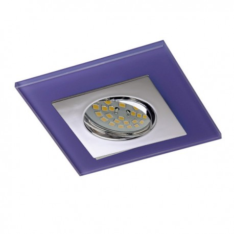 Zeta Chrome Recessed Light – Purple Glass