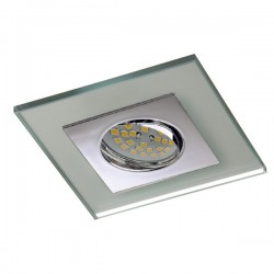 Zeta Chrome Recessed Light – Silver Glass