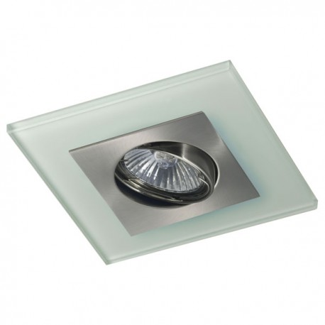 Zeta Nickel Recessed Light – White Glass