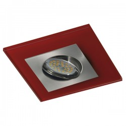 Zeta Nickel Recessed Light – Red Glass