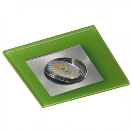 Zeta Nickel Recessed Light – Green Glass