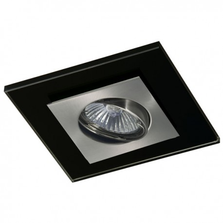 Zeta Nickel Recessed Light – Black Glass