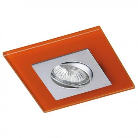 Zeta Steel Recessed Light – Orange Glass